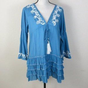 Sacred Threads Blue Top Size L